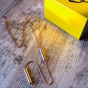 EUC ✨ Shelton Bar Necklace Rose Gold Kendra Scott